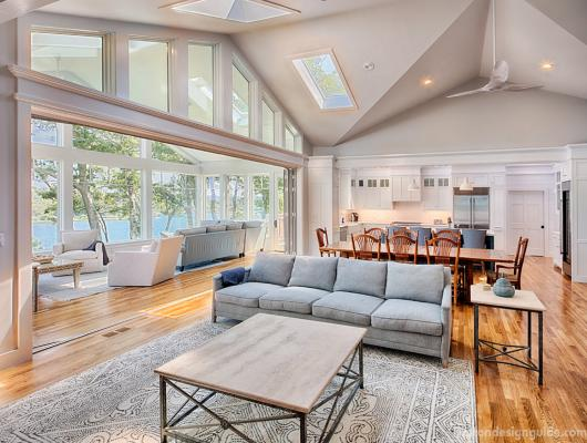 Great room by the water by Sherman Associates