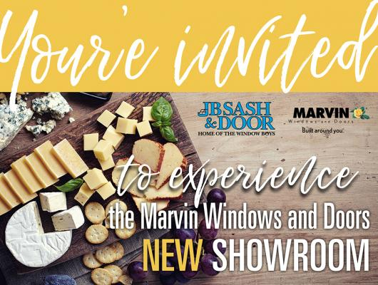 New England's display of Marvin and Integrity windows and doors