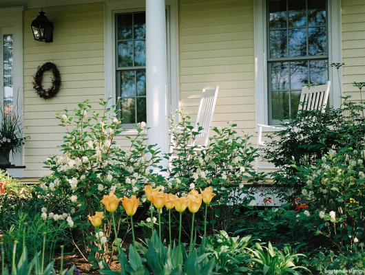 high-end residential home landscape