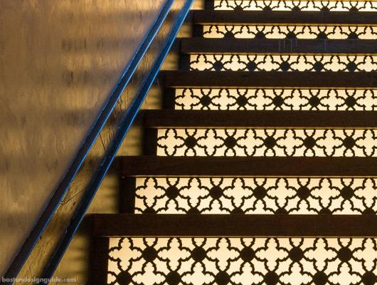 Metal architectural staircase