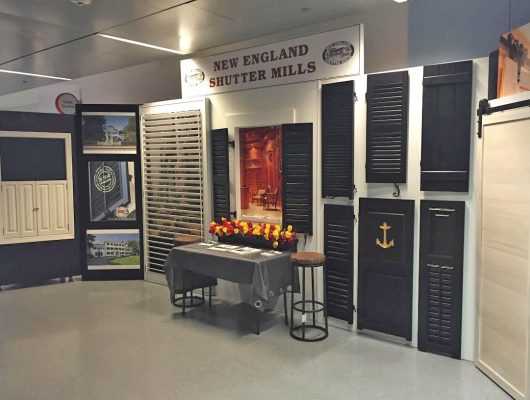New England Shutter Mills Showcases Work at the New England Home Show