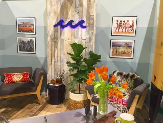 Coastal-themed live-work space at the 2016 Rhode Island Home Show