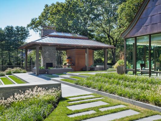 high-end Boston architect, pool house