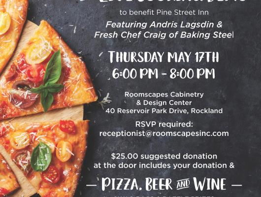 Pizza benefit and cooking demonstration at Roomscapes