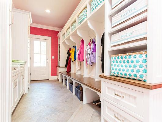 high-end custom mudroom