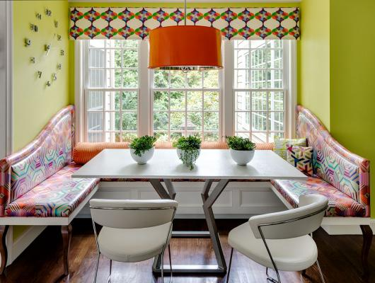 Bespoke Design Kitchen Banquette by Heather Vaughan Interior Design