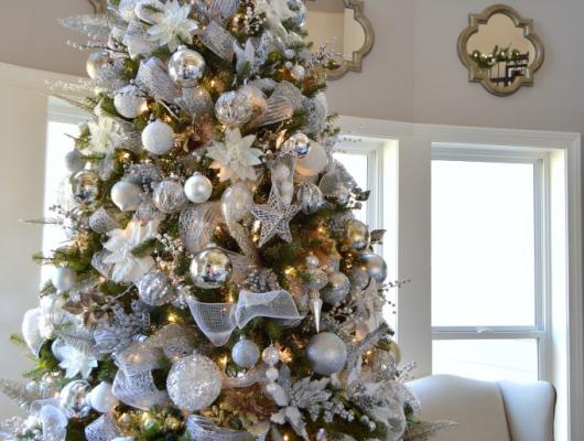 White Holiday Home Decor