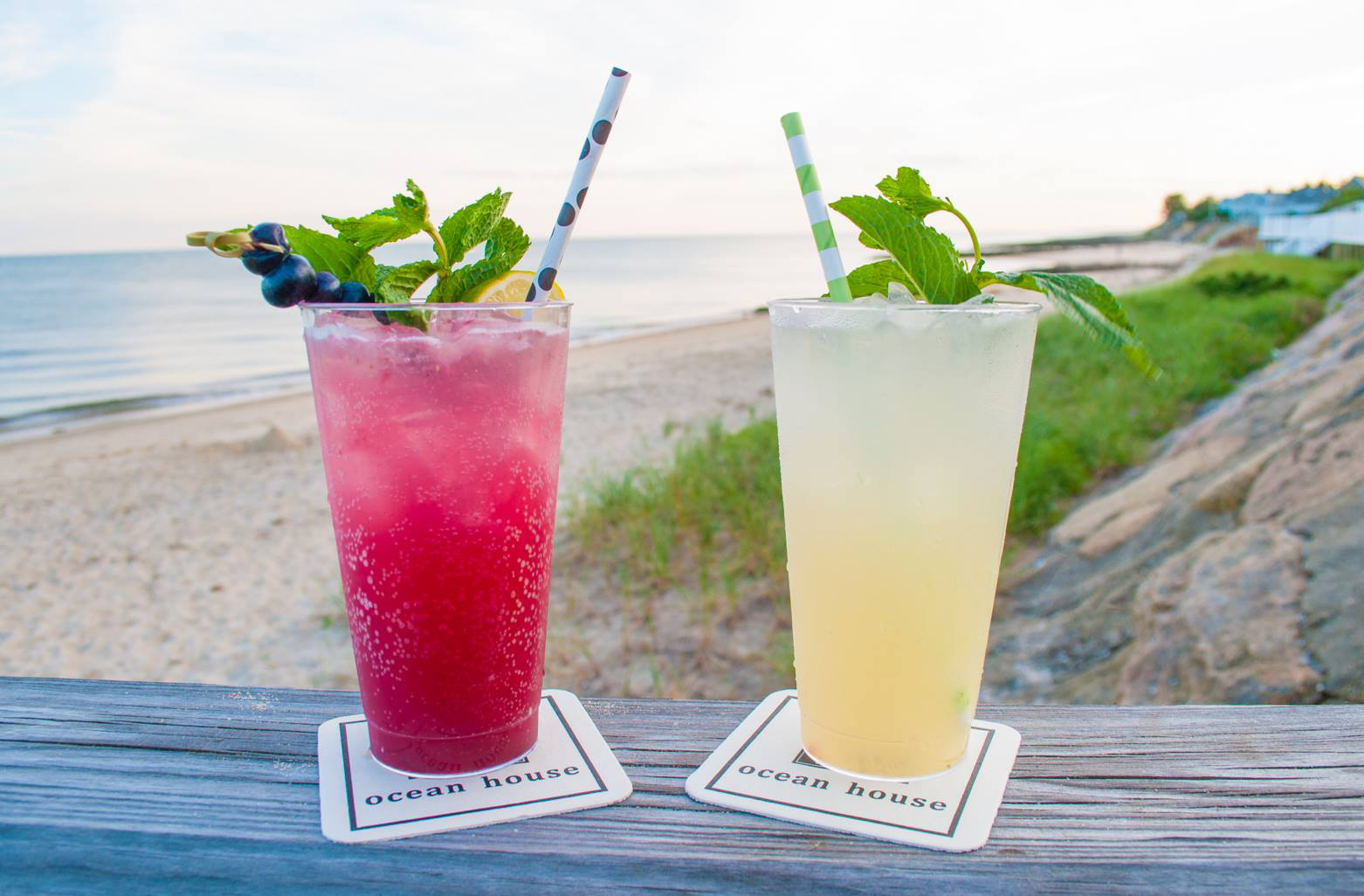 Ocean House Restaurant resides the Beach Bar, one of the Cape's coolest hot spots
