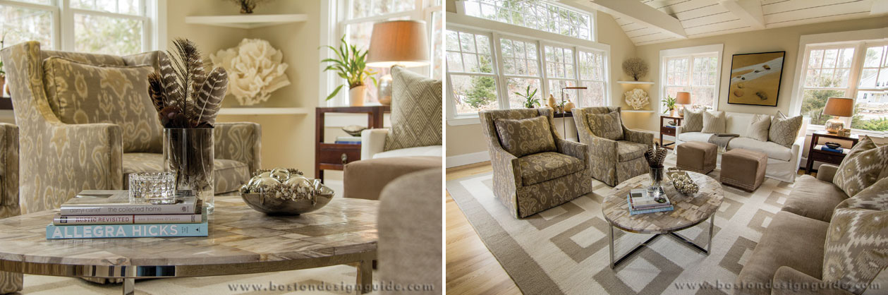 Interior Design by Surroundings Home Just because you fancy neutrals doesn't mean you have a taste for vanilla. Designer Bill Barr of Surroundings Home certainly doesn't, and he feels most comfortable surrounded by tans, taupes and creams. To him, the sof