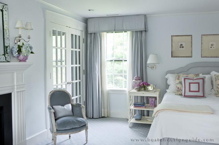 Elegant bedroom with soft colors