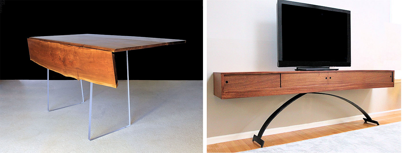 Custom-made furniture by Ray Bachand of 60nobscot