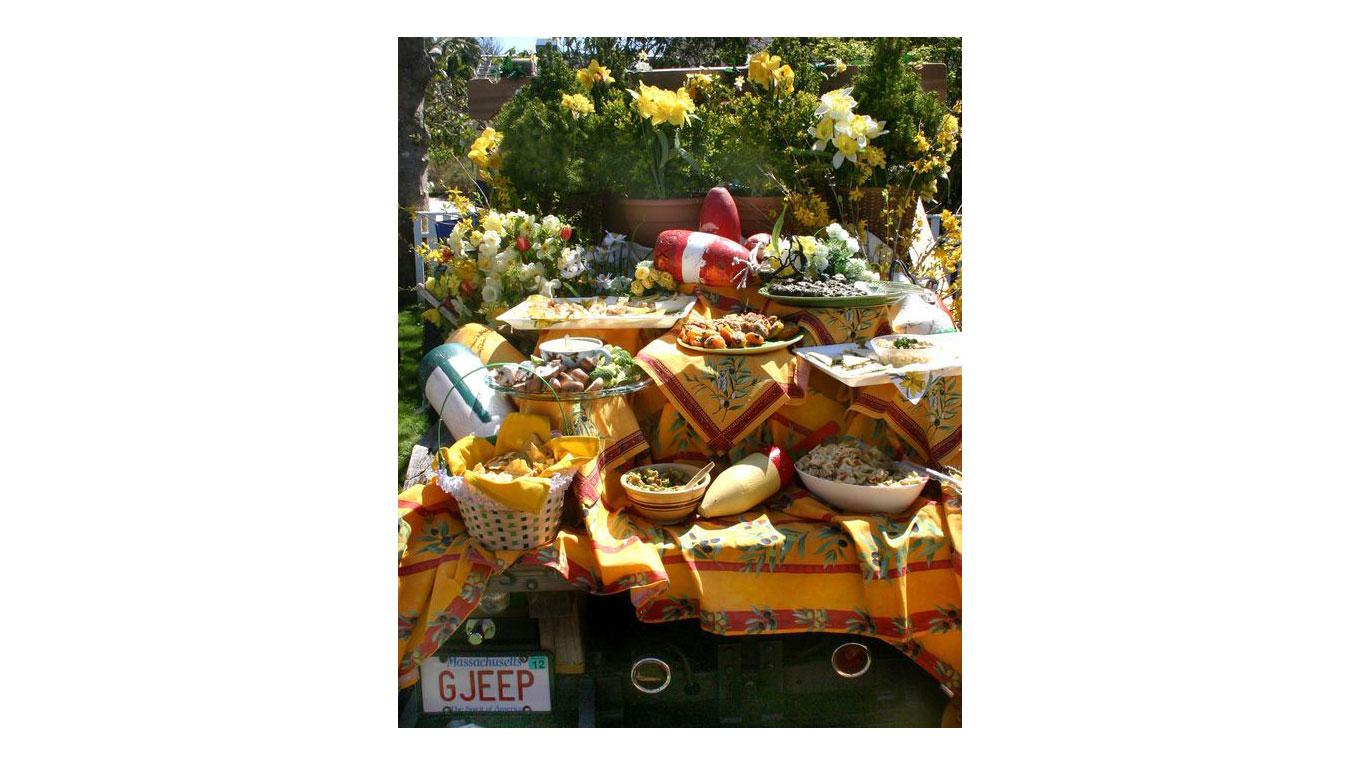 Nantucket Daffodil Festival tailgate spread