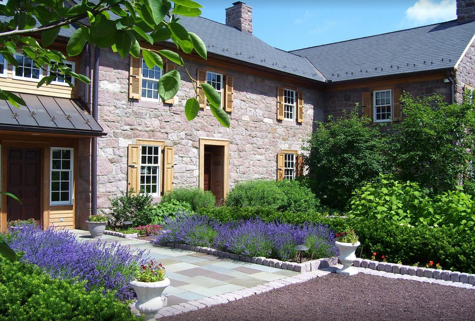 Louver shutters on a farmhouse