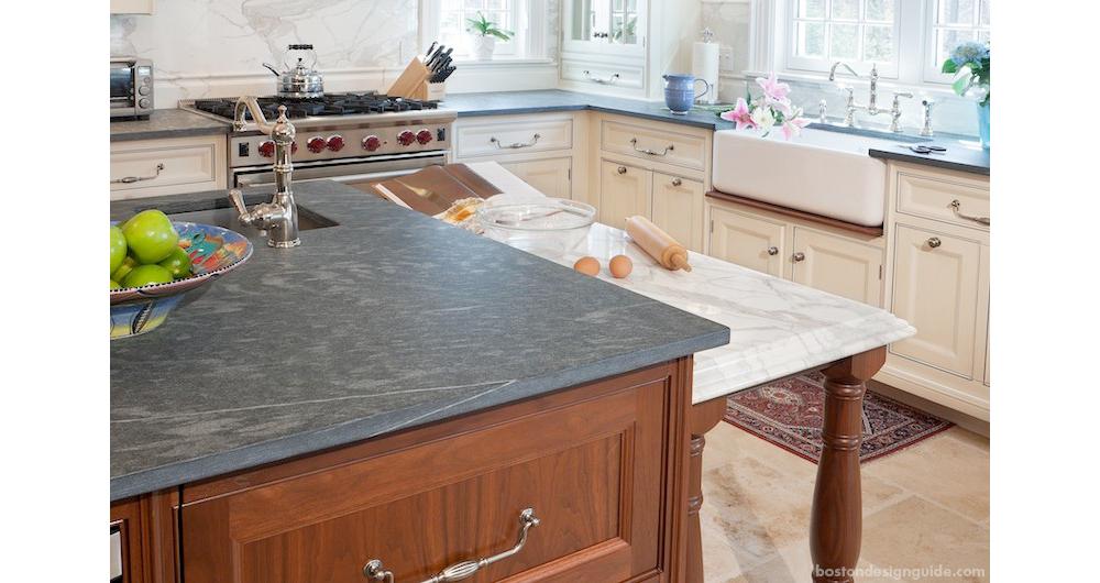 Stonework By United Marble Fabricators Construction John Pierce Cabinetry Dalia Kitchen Design Photo Warren Patterson