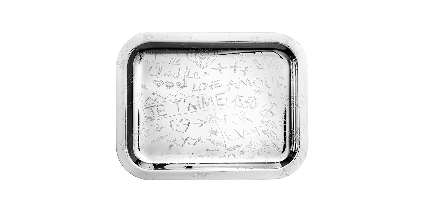 Christofle graffiti tray