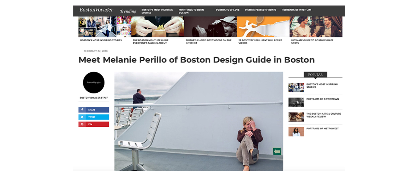 Q&A with Melanie Perillo, publisher of Boston Design Guide
