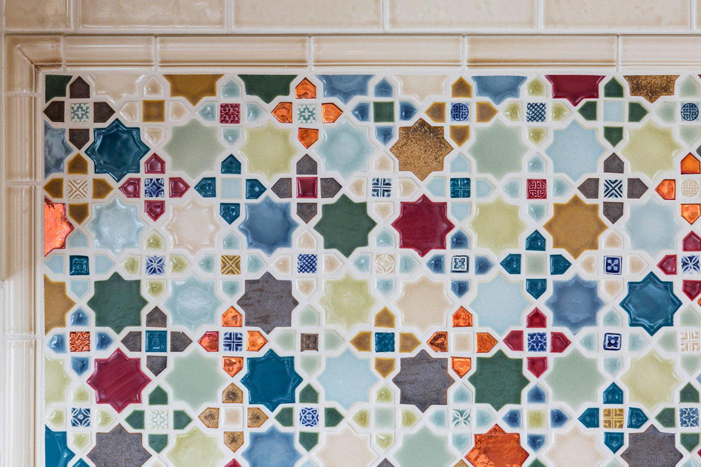 Bespoke Design Kitchen Backsplash by Heather Vaughan Interior Design