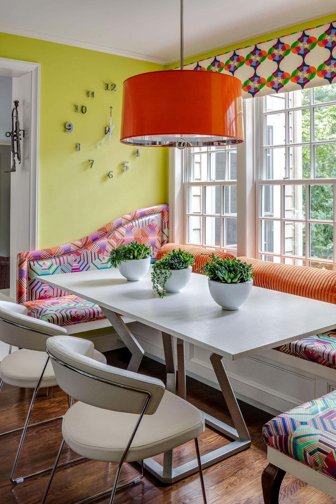 Bespoke Design Kitchen Banquette by Heather Vaughan Interior Design
