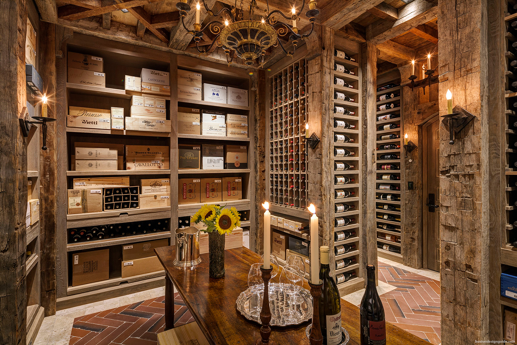 High-end custom wine cellar