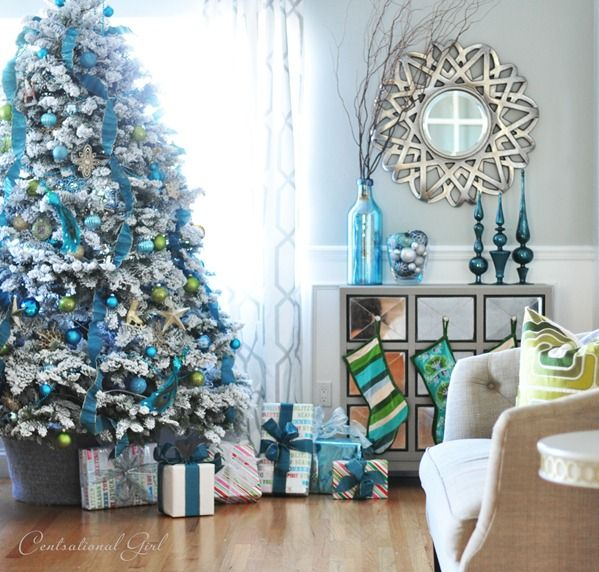 white christmas - Blue And White Christmas Tree