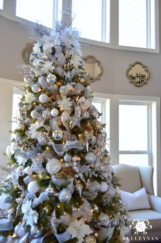How to decorate for the holidays with white accents for Christmas tree decorations you can make at home