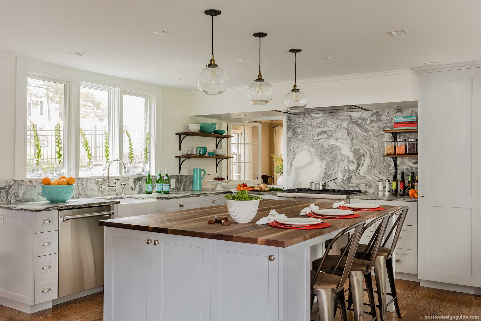 A 100 Year Old Boston Home Kitchen Remodel Boston Design