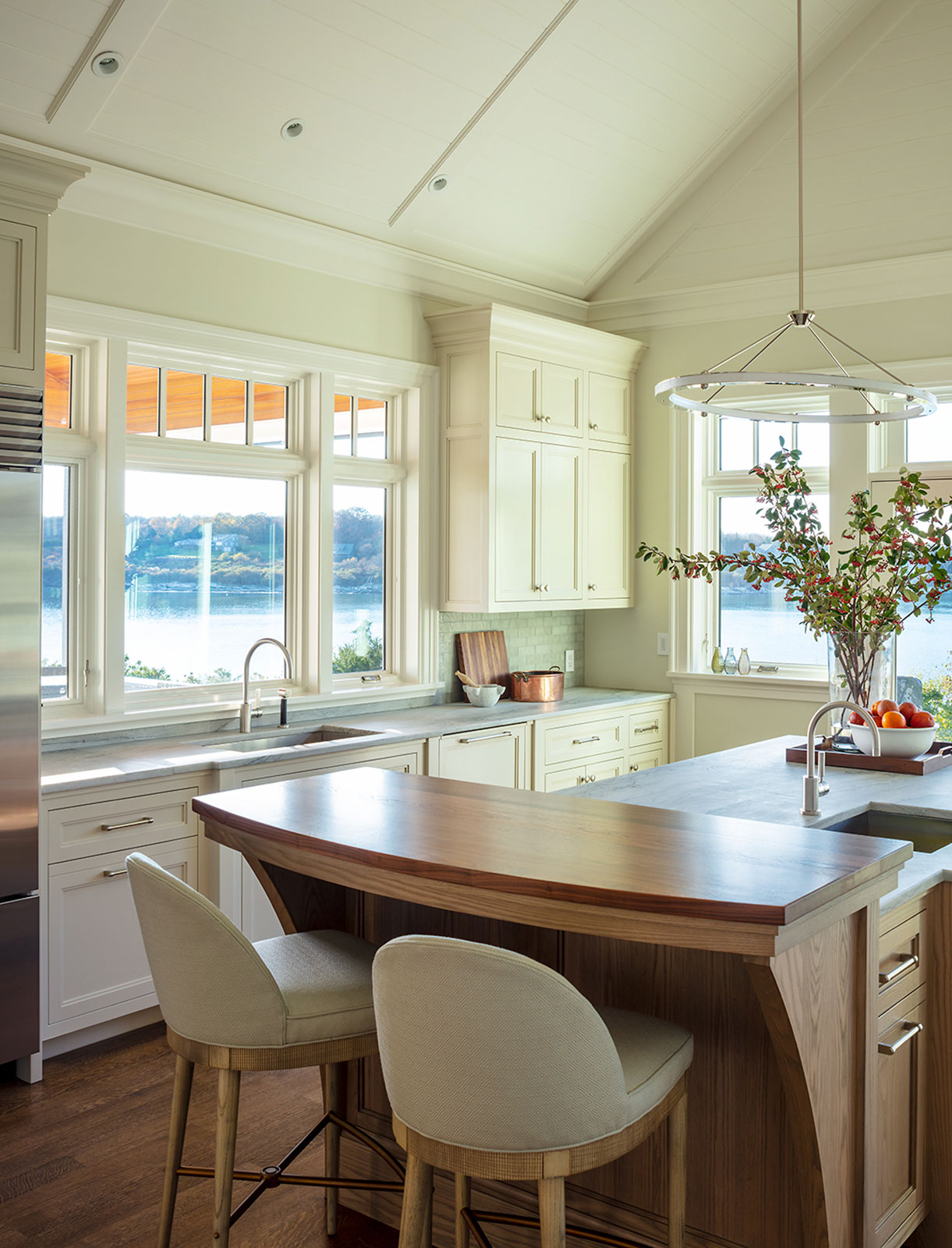 Custom Coastal kitchen by WKP Construction