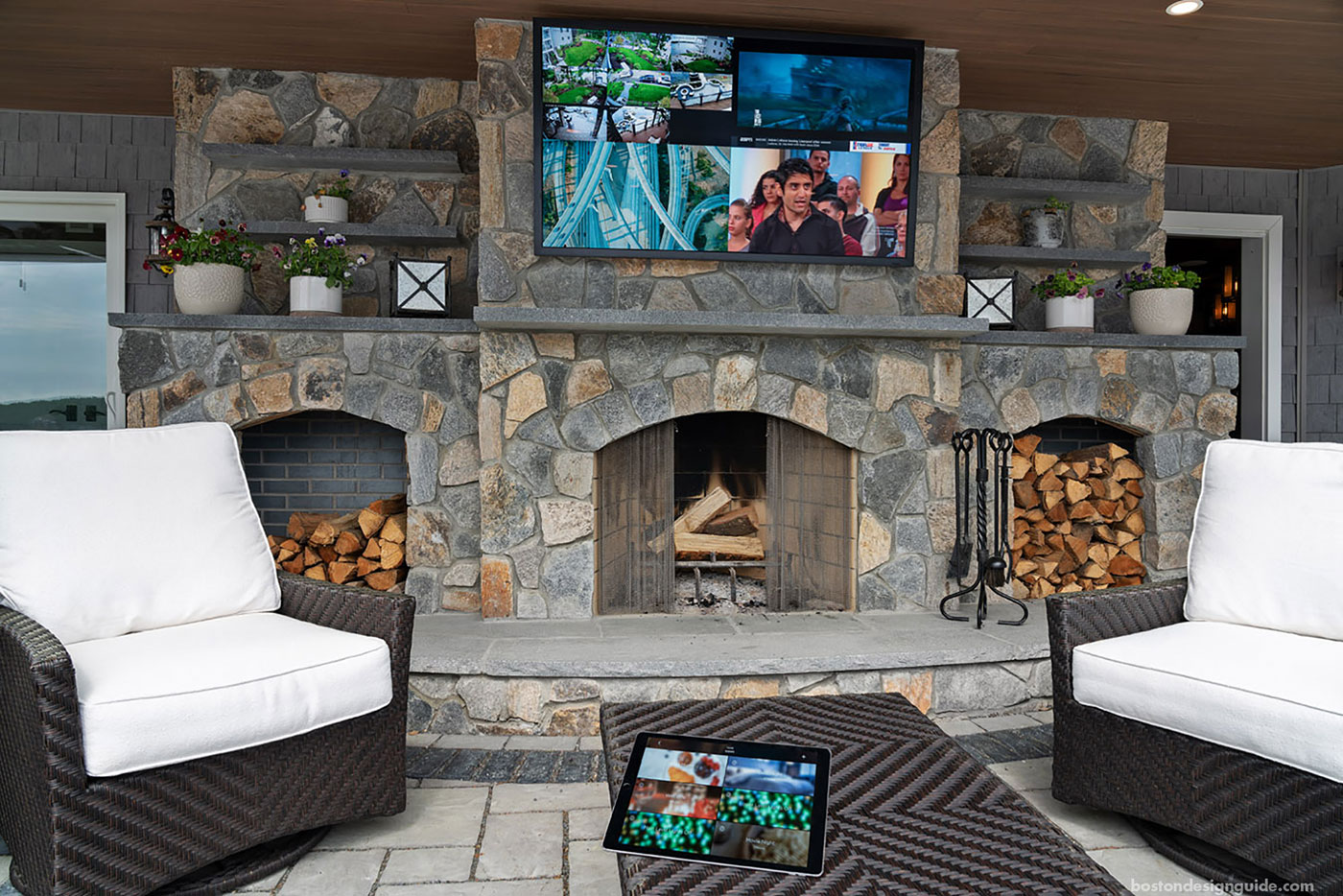 Outdoor living space integrated with smart technology by SDI